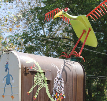 Whimsical North Hills East Mailbox