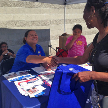 Perla Lagunas at Emergency Preparedness Event