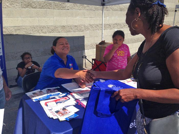Perla Lagunas at Emergency Preparedness Event