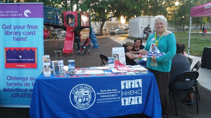 North Hills East Neighborhood Council Outreach Table