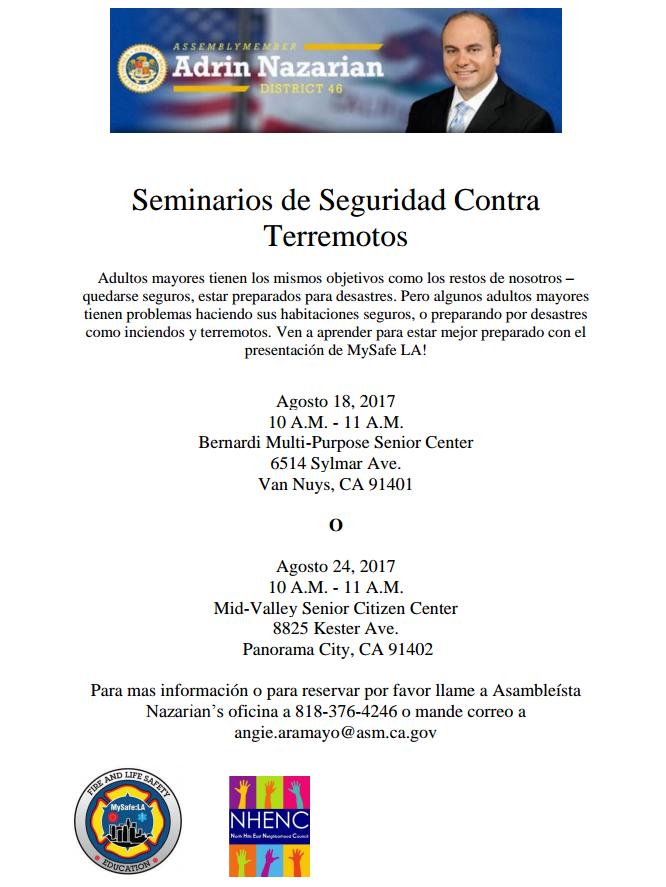 Earthquake safety seminar