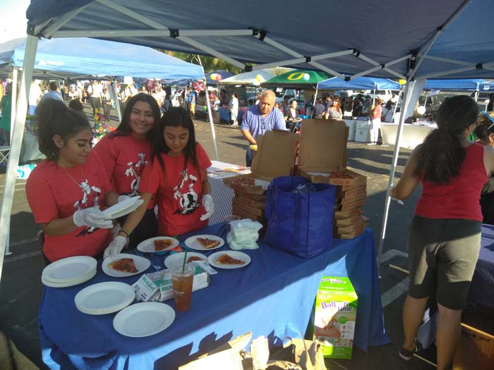 Food Tables at National Night Out