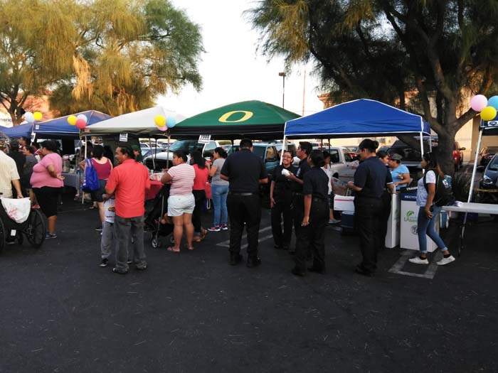 Tables at National Night Out
