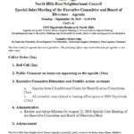 thumbnail of Special Executive Mtg Joint Agenda September 30 2019