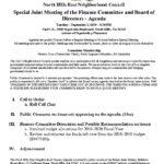 thumbnail of Special Finance Mtg Joint Agenda September 2019