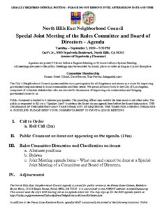 thumbnail of Special Rules Mtg Joint Agenda September 2019