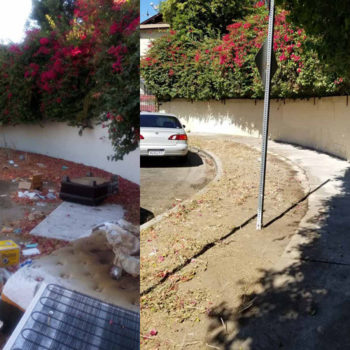 Before-after clean up