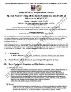 thumbnail of Special Rules Mtg Minutes Joint Agenda September 2019