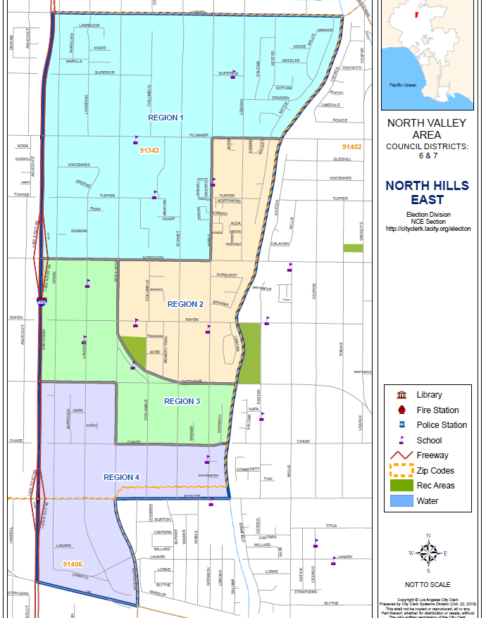 North Hills East Boundary Map