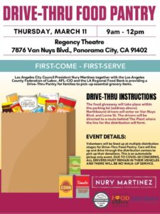 March 11 Drive Thru Food Pantry English