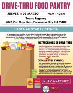 March 11 Drive Thru Food Pantry Spanish