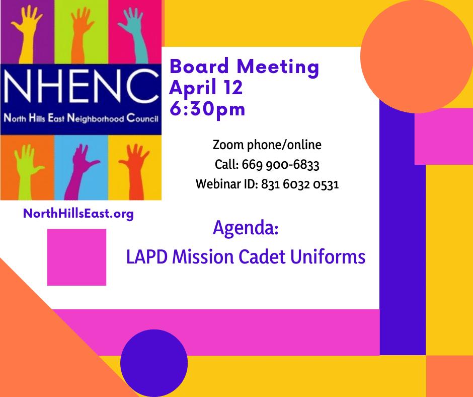 NHENC Meeting Announcement April