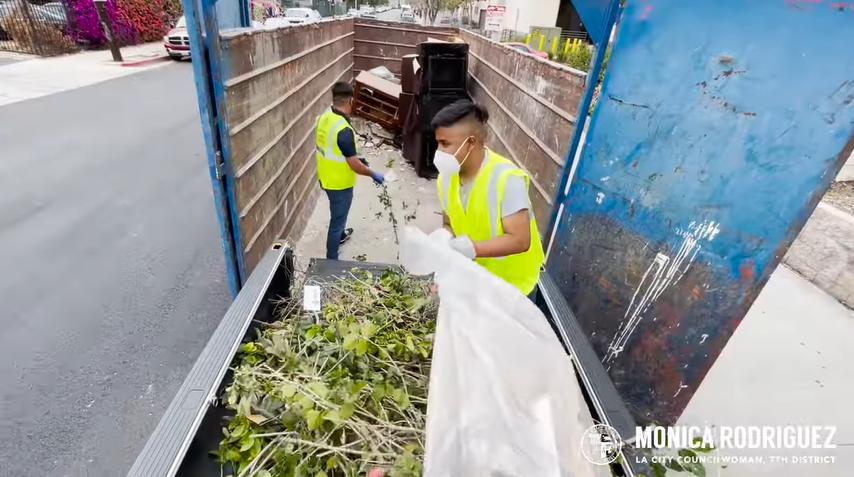 MROD clean up dumpster