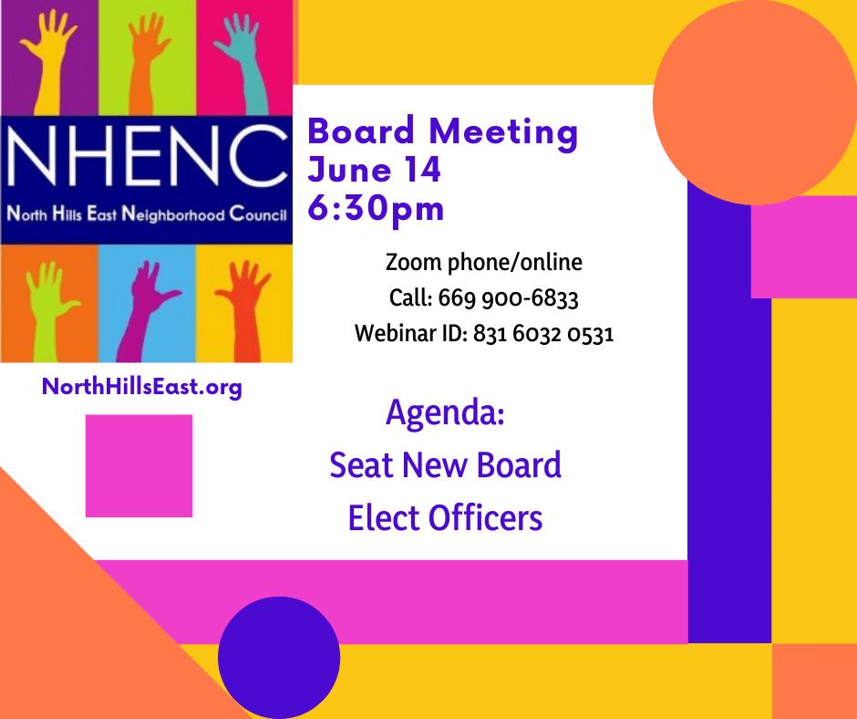 NHENC Meeting Announcement June