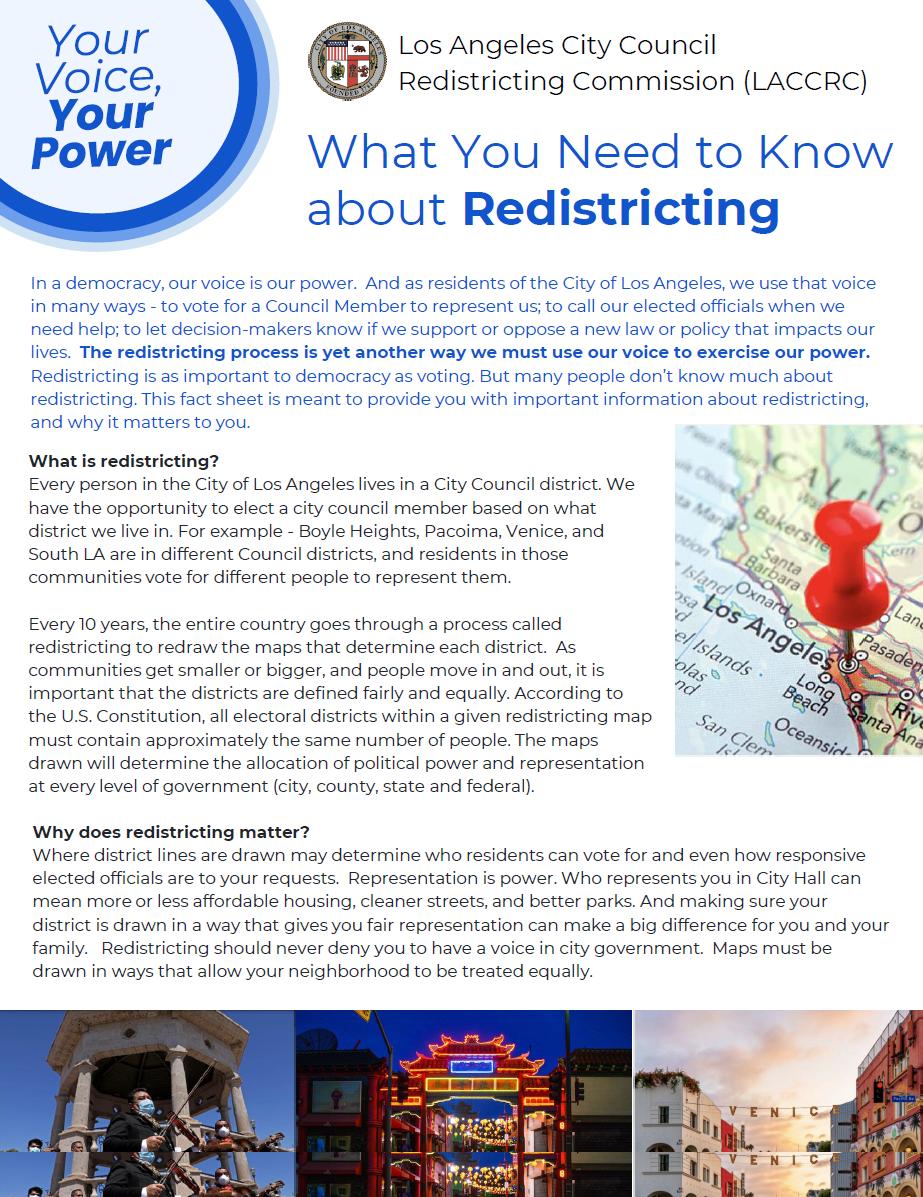 Redistricting Public Hearing CD7